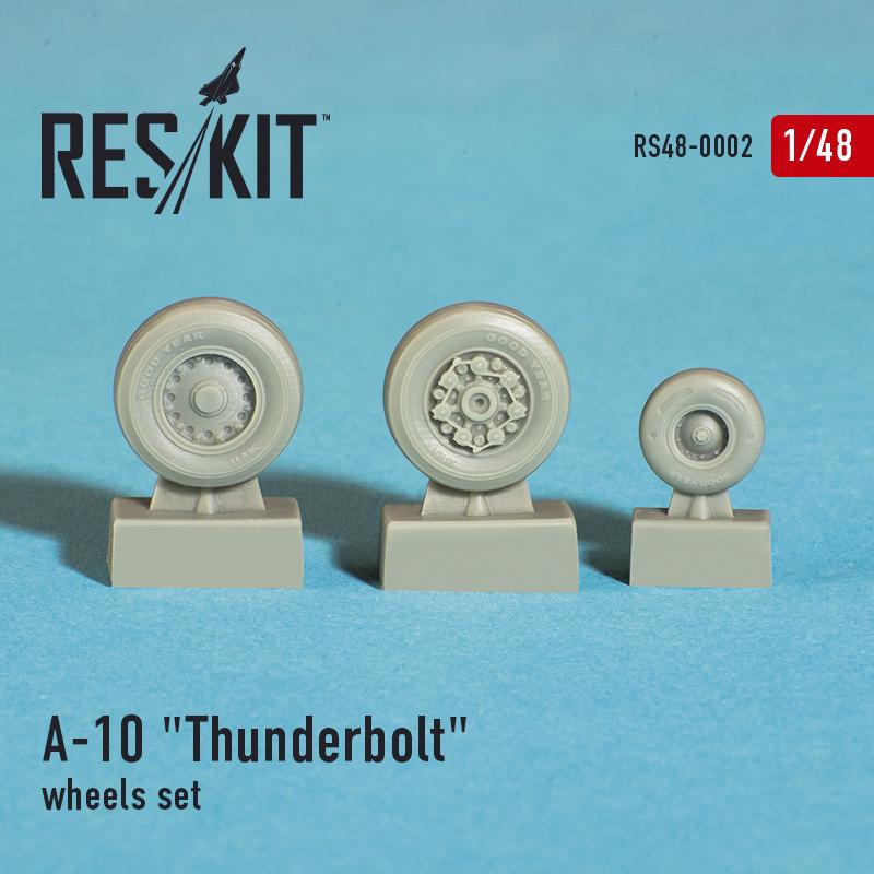 """A-10 """"Thunderbolt"""" смоляные колеса (1/48)"""