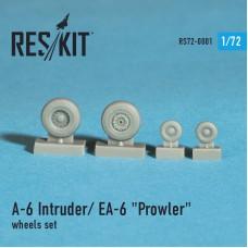 """A-6 Intruder / EA-6 """"Prowler"""" смоляные колеса (1/72)"""