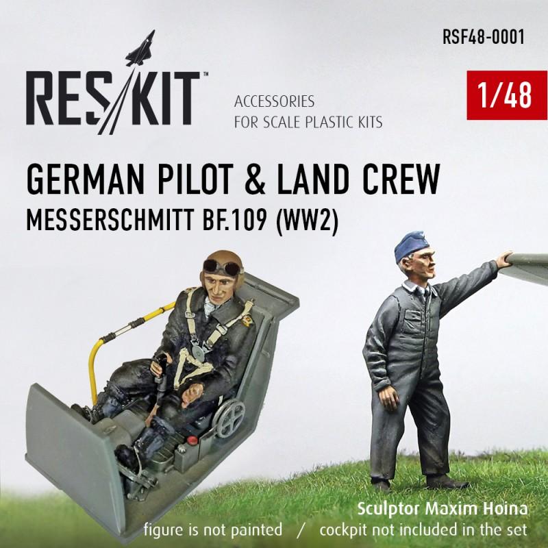 Немецкий пилот и обслуживающий персонал (1/48)
