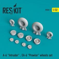 """A-6 """"Intruder"""" , EA-6 """"Prowler"""" смоляные колеса (1/32)"""