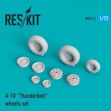 """A-10 """"Thunderbolt"""" смоляные колеса (1/72)"""