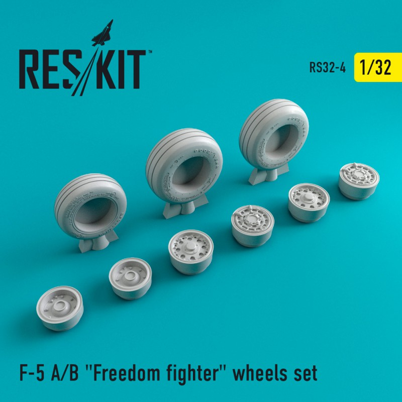 F-5 (A/B) Freedom Fighter смоляные колеса (1/32)