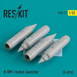 B-8M1 rocket launcher (4 pcs)  (4 штуки) (1/32)