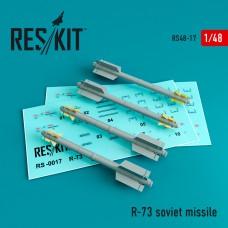 R-73 авиационная ракета (4 штуки) (1/48)