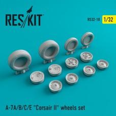 """A-7 """"Corsair II"""" (A/B/C/E) смоляные колеса (1/32)"""
