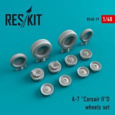"""A-7 """"Corsair II"""" (D) смоляные колеса  (1/48)"""
