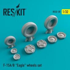 """F-15 (A/B) """"Eagle"""" смоляные колеса (1/32)"""