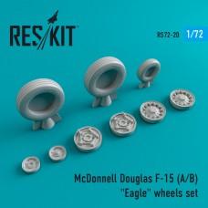 """F-15 (A/B) """"Eagle"""" смоляные колеса (1/72)"""