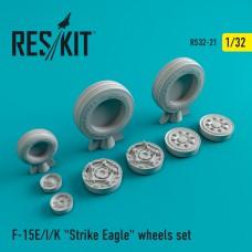 "F-15 (E/I/K) ""Strike Eagle"" смоляные колеса (1/32)"