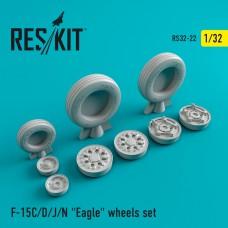 """F-15 (C/D/J/N) """"Eagle"""" смоляные колеса (1/32)"""