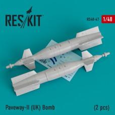 Paveway-II (UK) Bomb (2 pcs) (Tornado, Eurofighter,Buccaneer, Harrier ) (1/48)