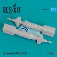 Paveway-II (UK) Bomb (2 pcs) (Tornado, Eurofighter,Buccaneer, Harrier ) (1/72)