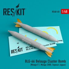 BLG-66 Belouga Cluster Bomb (2 штуки) (1/48)
