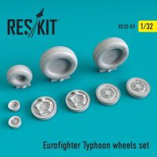 Eurofighter Typhoon смоляні колеса (1/32)
