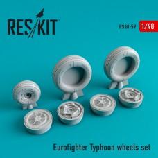 Eurofighter Typhoon смоляные колеса (1/48)