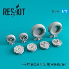 F-4 Phantom II (B, N) смоляные колеса  (1/72)