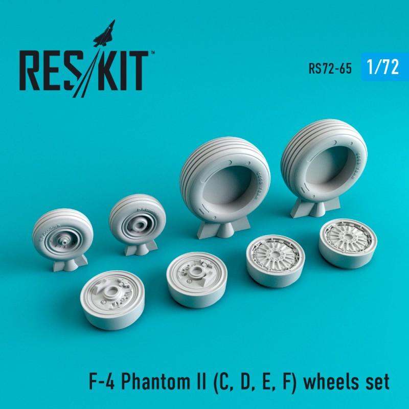F-4 Phantom II (C, D, E, F,G) смоляные колеса (1/72)
