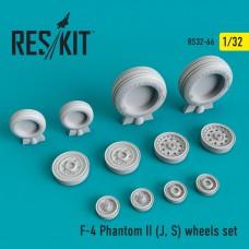 F-4 Phantom II (J, S) смоляные колеса (1/32)