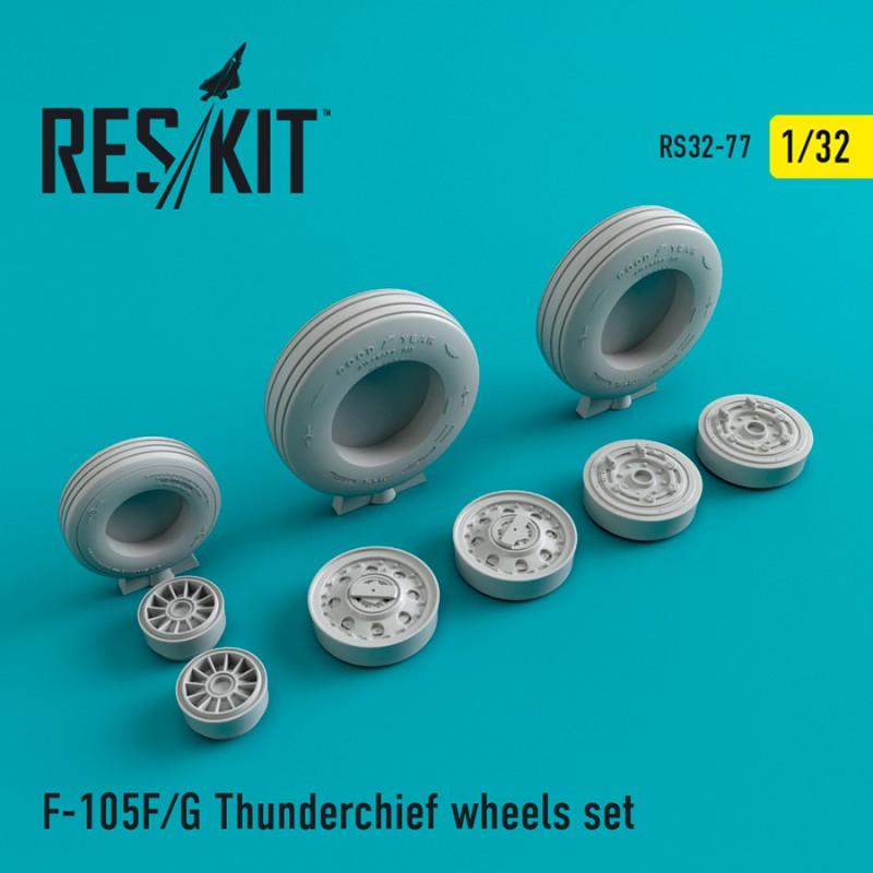 F-105 (F,G) смоляные колеса (1/32)