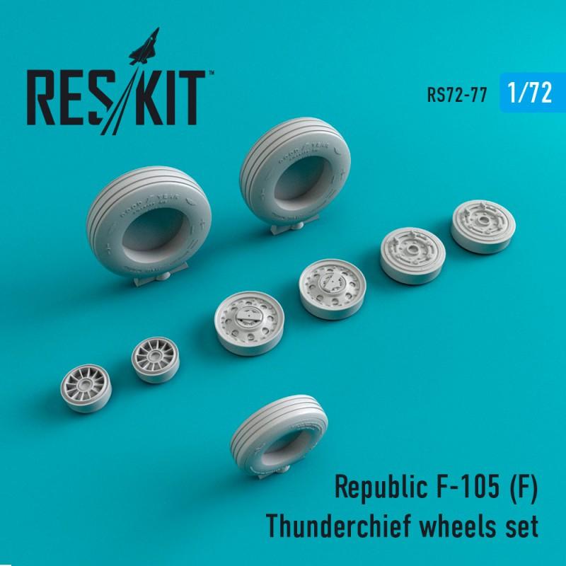 F-105 (F) Thunderchief смоляные колеса (1/72)