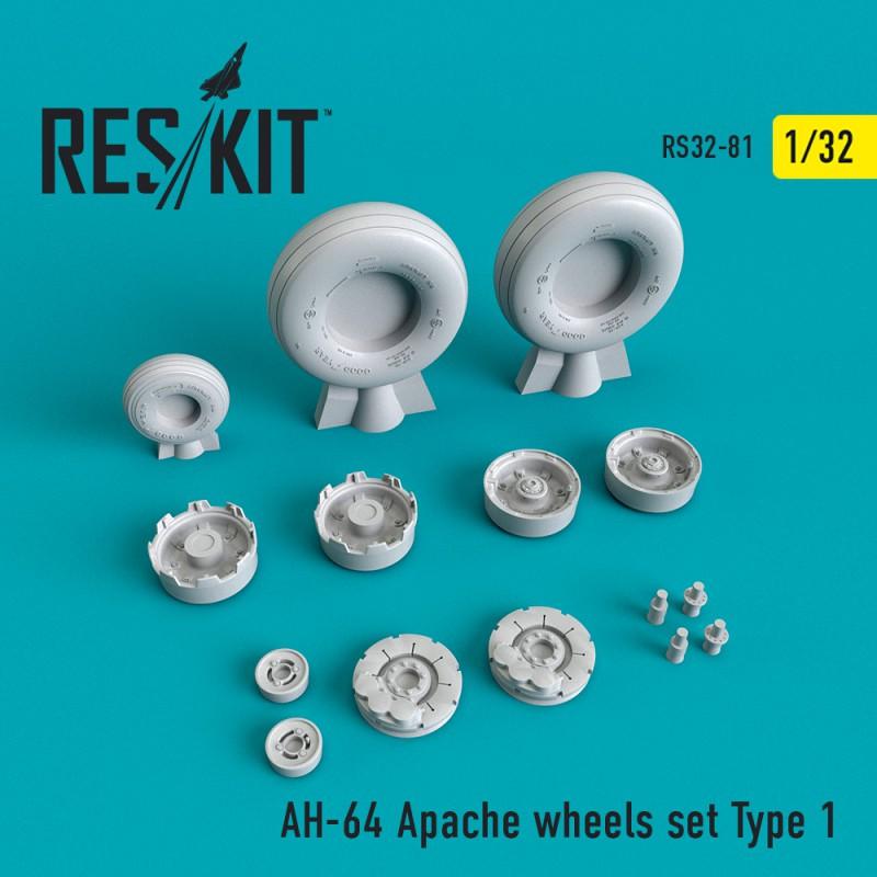 AH-64 Apache Type 1 смоляні колеса (1/32)