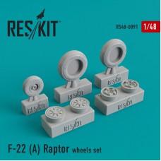 F-22 (A) Raptor смоляные колеса (1/48)