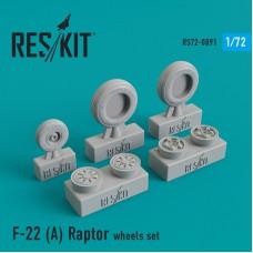 F-22 (A) Raptor смоляные колеса (1/72)