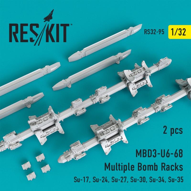 МБД3-У6-68 багатозамковий бомботримач (2 штуки) (1/48)