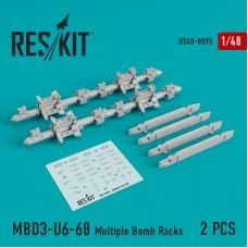 МБД3-У6-68 многозамковый бомбодержатель (2 штуки) (1/48)