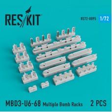 MBD3-U6-68 Multiple Bomb Racks (2 штуки) (1/72)