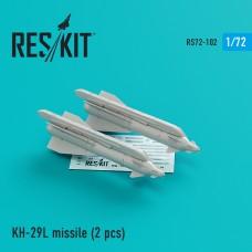 Kh-29L  (AS-14A 'Kedge) missile (2 штуки) (1/72)
