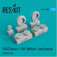 F4U Corsair / F6F Hellcat  Land based  смоляные колеса (1/72)