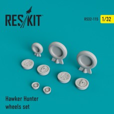 Hawker Hunter смоляные колеса (1/32)