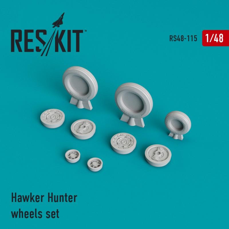 Hawker Hunter  смоляные колеса (1/48)