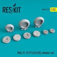 МиГ-21Ф/Ф13/У/УМ/УС смоляні колеса (1/32)