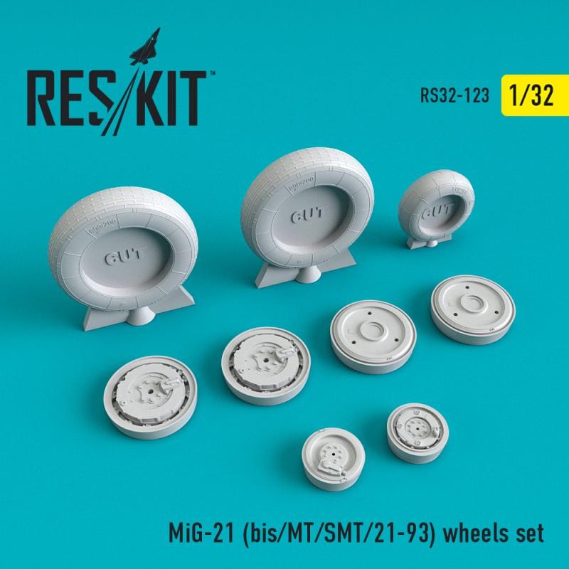 МиГ-21 (БИС/МТ/СМТ/21-93) смоляні колеса (1/32)