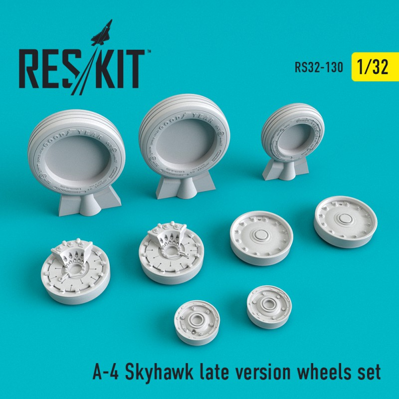 A-4 Skyhawk late version смоляні колеса (1/32)