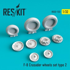 F-8 Crusader Type 2  смоляні колеса (1/32)