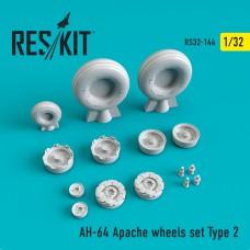 AH-64 Apache  Type 2 смоляні колеса  (1/32)
