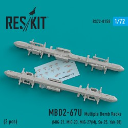MBD2-67U Multiple Bomb Racks  (2 штуки) (1/72)
