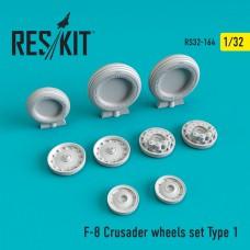 F-8 Crusader Type 1  смоляні колеса (1/32)