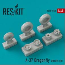 A-37 Dragonfly смоляные колеса (1/48)