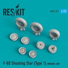 F-80 Shooting Star (Type 1) смоляные колеса (1/72)