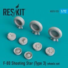 F-80 Shooting Star (Type 3) смоляные колеса (1/72)