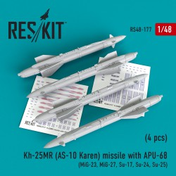Kh-25MR (AS-10 Karen) missile  with APU-68  (4 штуки)   (1/48)