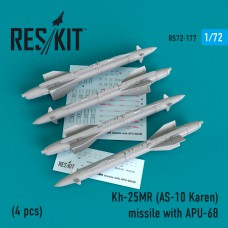 Kh-25MR (AS-10 Karen) missile  with APU-68  (4 штуки)   (1/72)