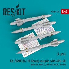 Kh-25MP (AS-10 Karen) missile  with APU-68  (4 штуки)   (1/48)