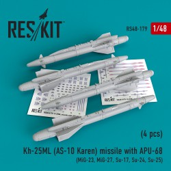 Kh-25ML (AS-10 Karen) missile  with APU-68  (4 штуки)   (1/48)