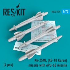 Kh-25ML (AS-10 Karen) missile  with APU-68  (4 штуки)   (1/72)
