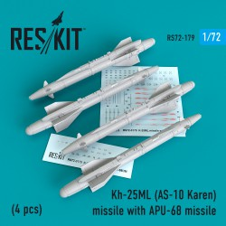 Kh-25ML (AS-10 Karen) missile  with APU-68  (4 штуки)   (1/72)